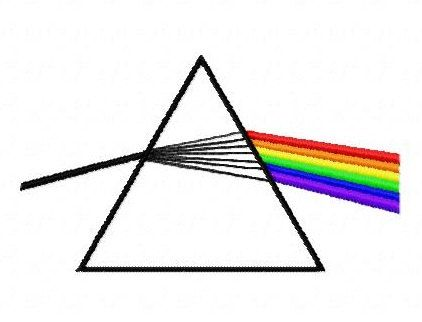 a639ca73a129e Pink Floyd rainbow prism machine embroidery design 4 inch instant ...