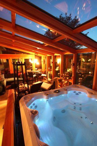 Sunroom Addition Hot Tub Room Indoor Hot Tub Home Spa Room