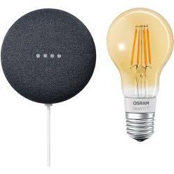 Google Nest Mini & Osram Smart+ Set 8 (Anthrazit)Bauhaus.info #googlehomemini