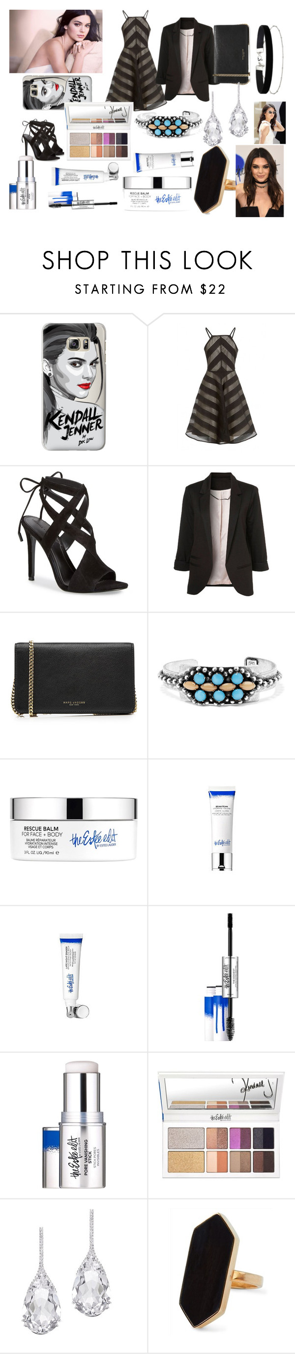 """""""A Kendall Jenner fan"""" by fashionpolyvore112num2 ❤ liked on Polyvore featuring Casetify, Estée Lauder, Kendall + Kylie, Marc Jacobs, DANNIJO, Plukka, Jaeger and Miss Selfridge"""