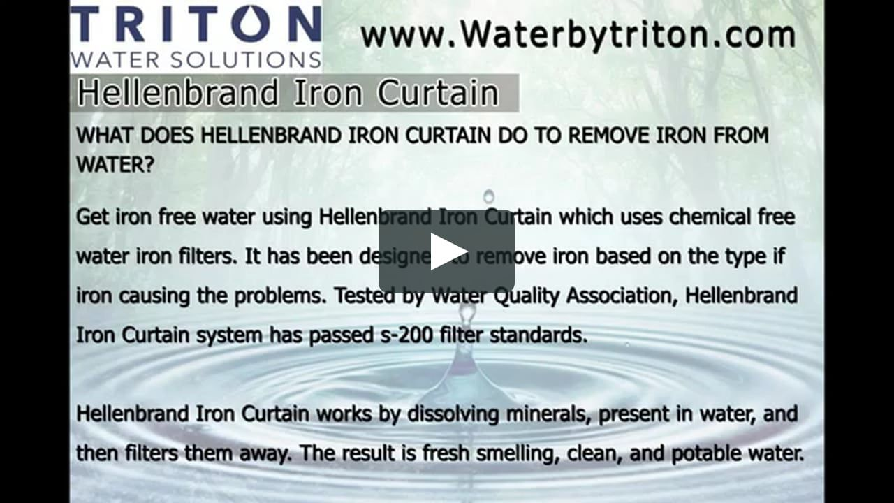 Hellenbrand Iron Curtain Iron Filter Water Solutions Iron