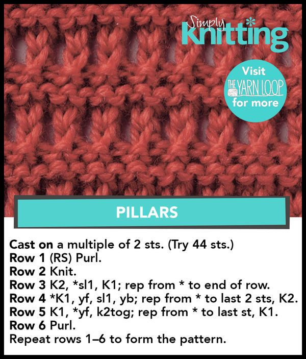Just sharing ( knitting) SL | Knit stitches | Pinterest