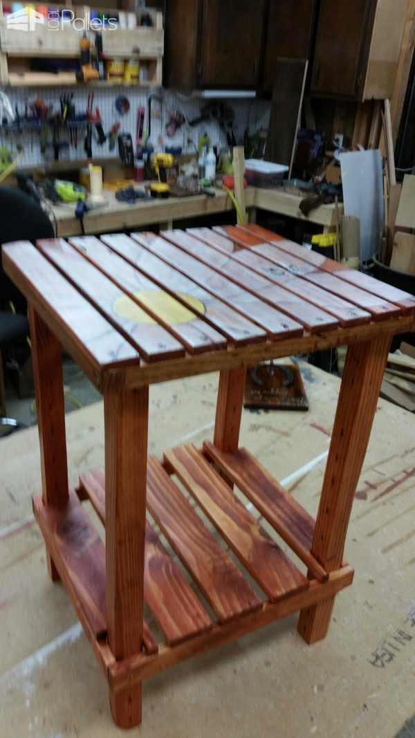 A Side Table Made From Pallet Wood