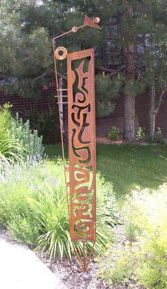 metal outdoor sculpture MADE TO ORDER rusty garden by NayaStudio