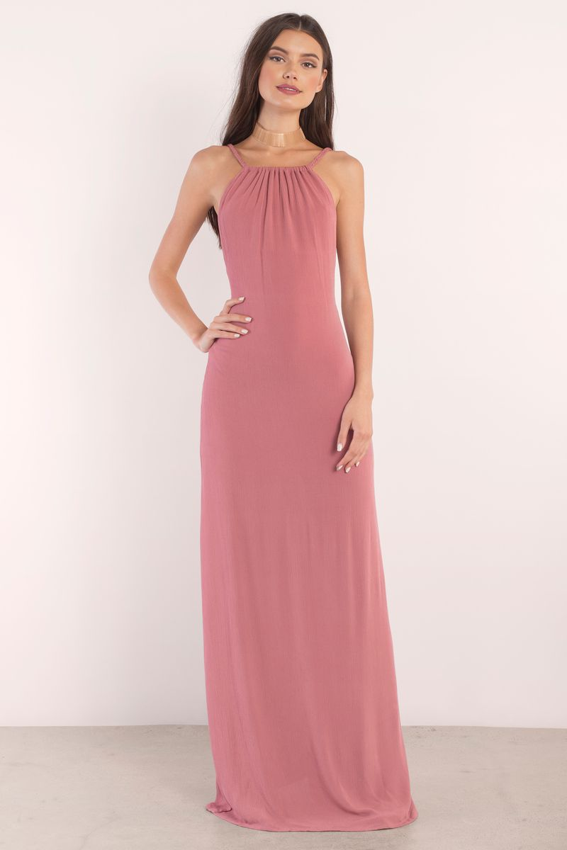 Lake Terracotta Halter Maxi Dress | Wardrobe Ideas - DRESSES ...