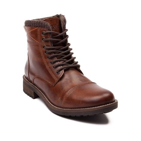 Shop for Mens Crevo Camden Boot in Brown at Journeys Shoes. Shop today for the hottest brands in mens shoes and womens shoes at Journeys.com.Lace up with the urban casual Camden boot from Crevo. This stylish, everyday combat boot features features s genuine leather upper, cushioned knit collar, 8-eyelet lace closure, side zipper, and durable rubber tread outsole. Available only online at Journeys.com!