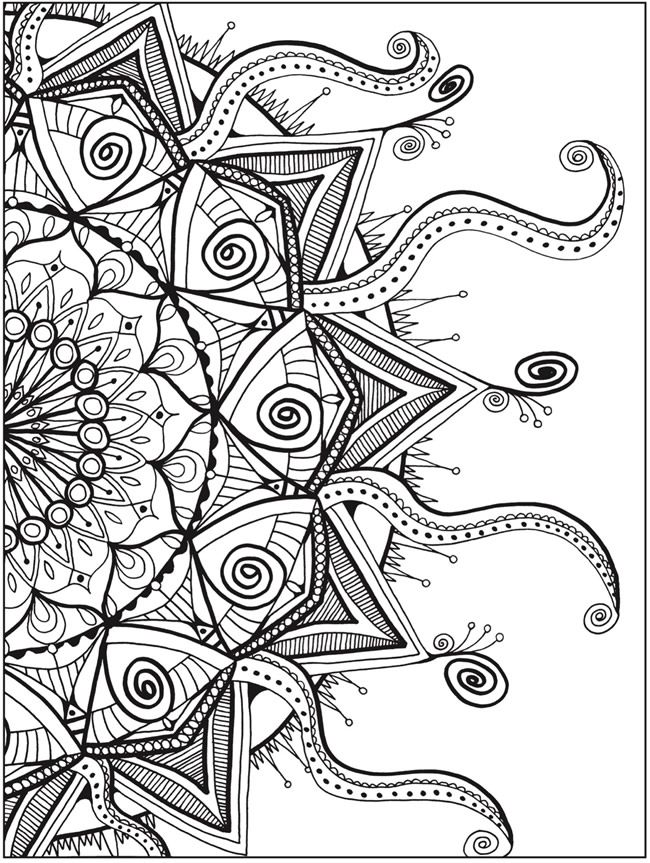 Zendala Coloring Book By: Lynne Medsker <> Dover Publications PAGE 4 ...