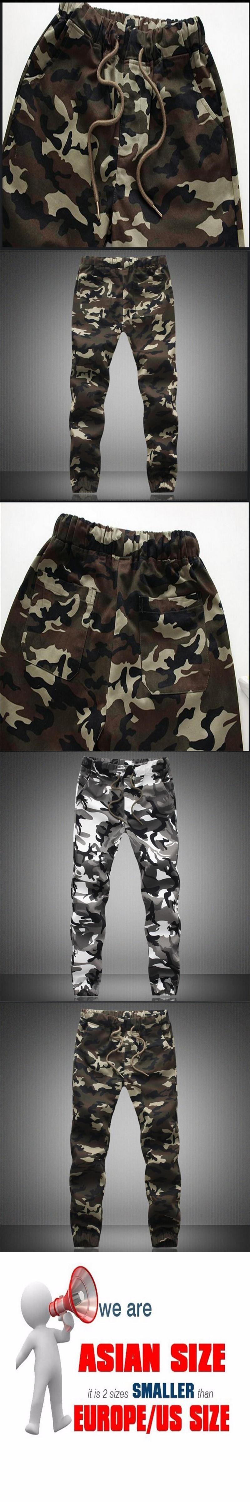 58d66ffba3f Men s Pure Cotton Spring Autumn Pencil Harem Comfortable Trousers Camo  Joggers Pants