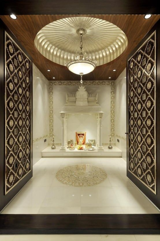This Pooja Room Is The Epitome Of Luxury- The White Marble