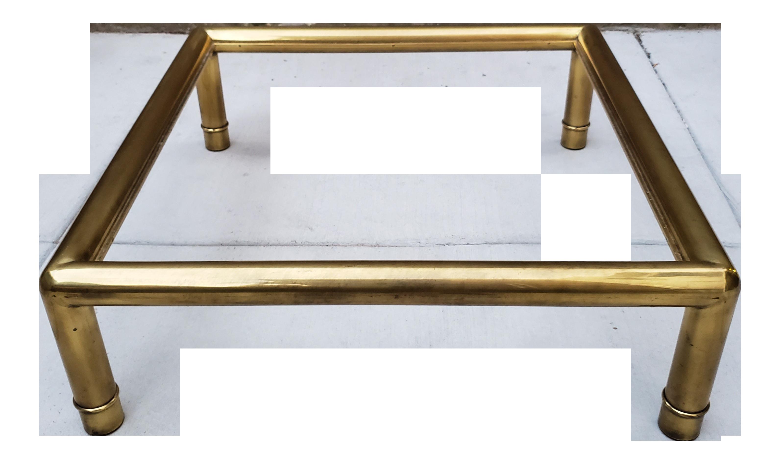 20th Century Hollywood Regency Mastercraft Tubular Brass Glass Coffee Table On Chairish Com Glass Coffee Table Coffee Table Glass Table