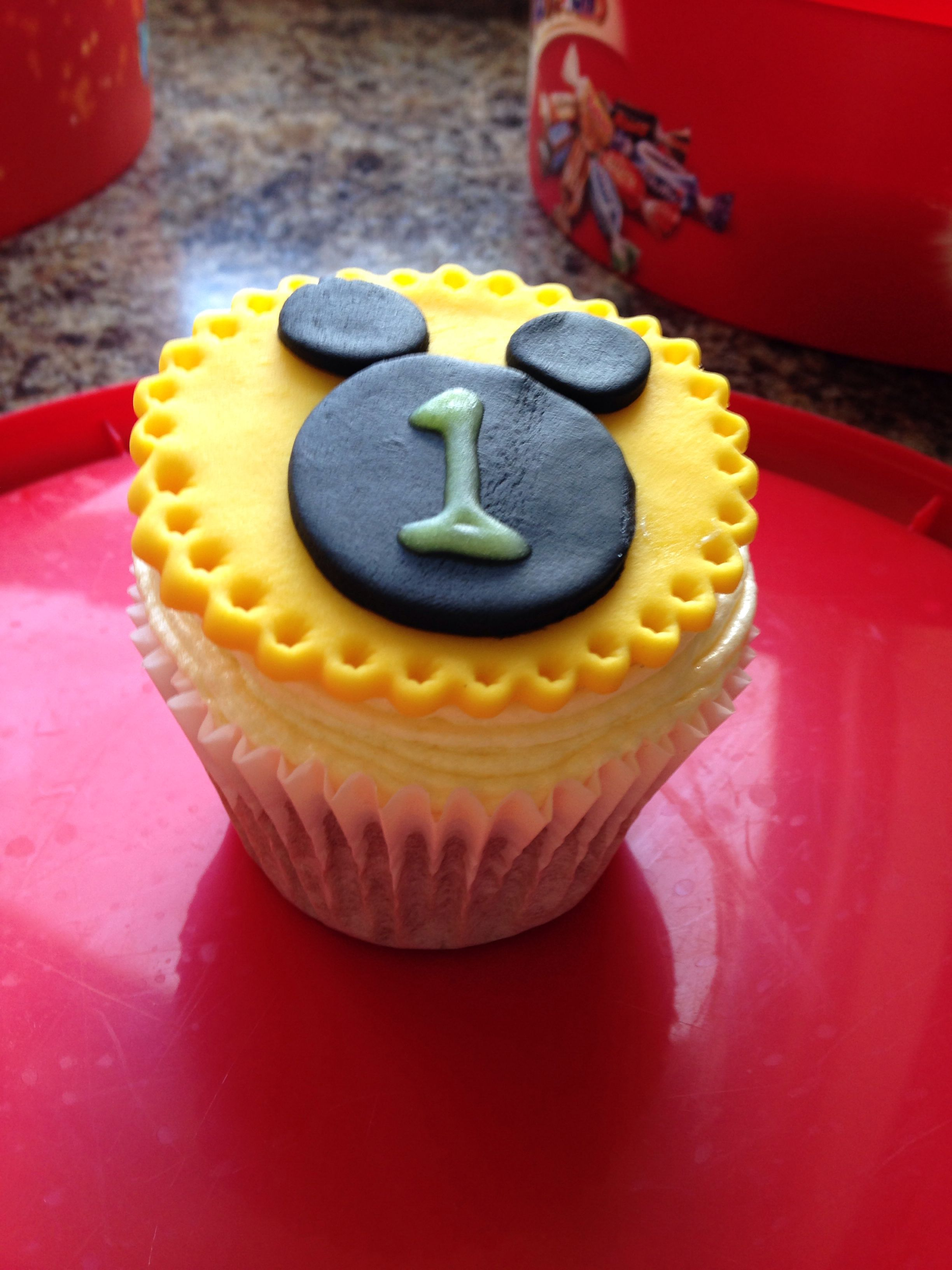 Mickey Mouse number cupcake topper Edible cups, Cake