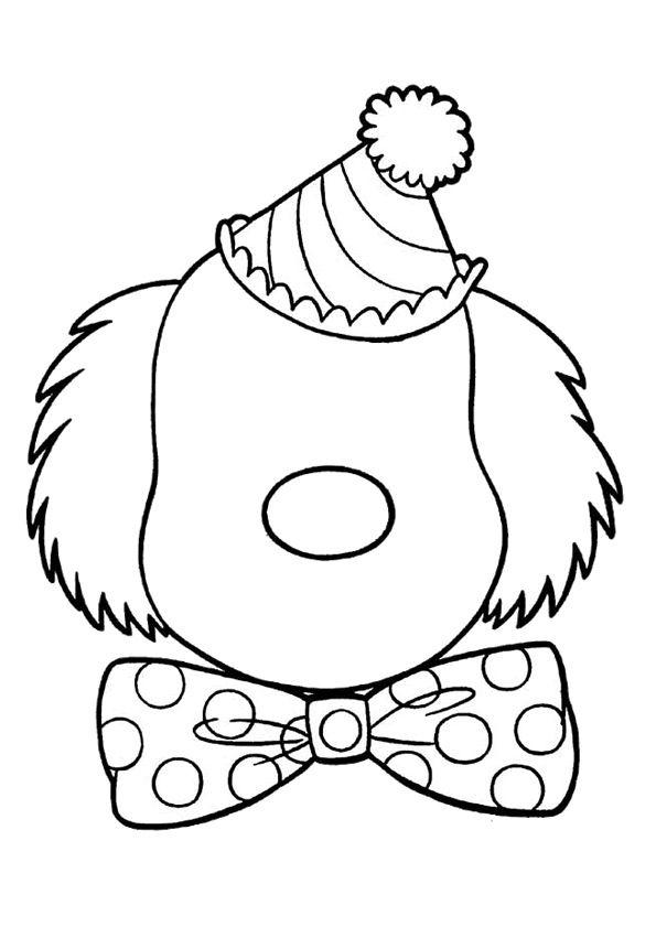 Gezicht Maken Coloring Pages Face Drawing Clown Crafts