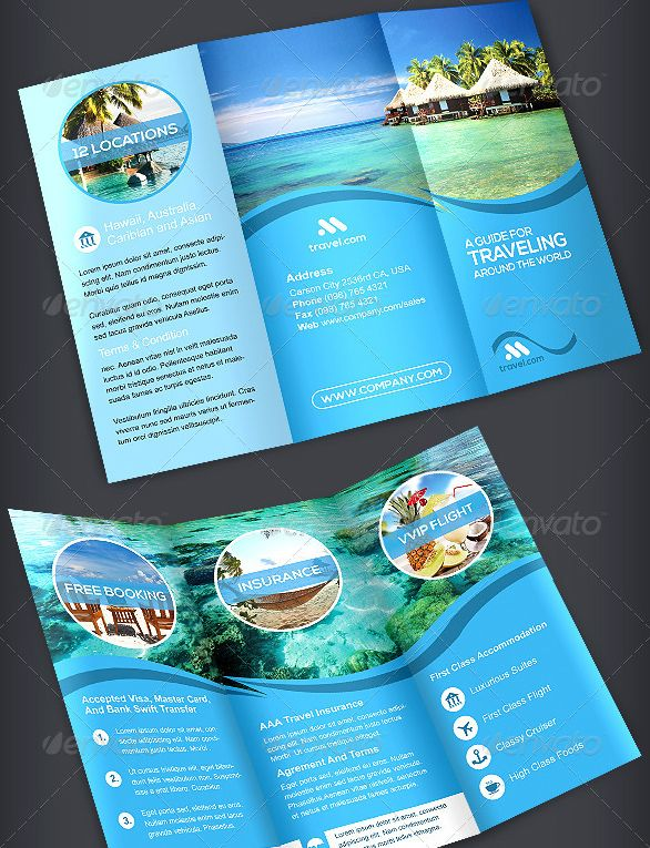 Travel Trifold Brochure Volume 1 Template Pinterest Brochures