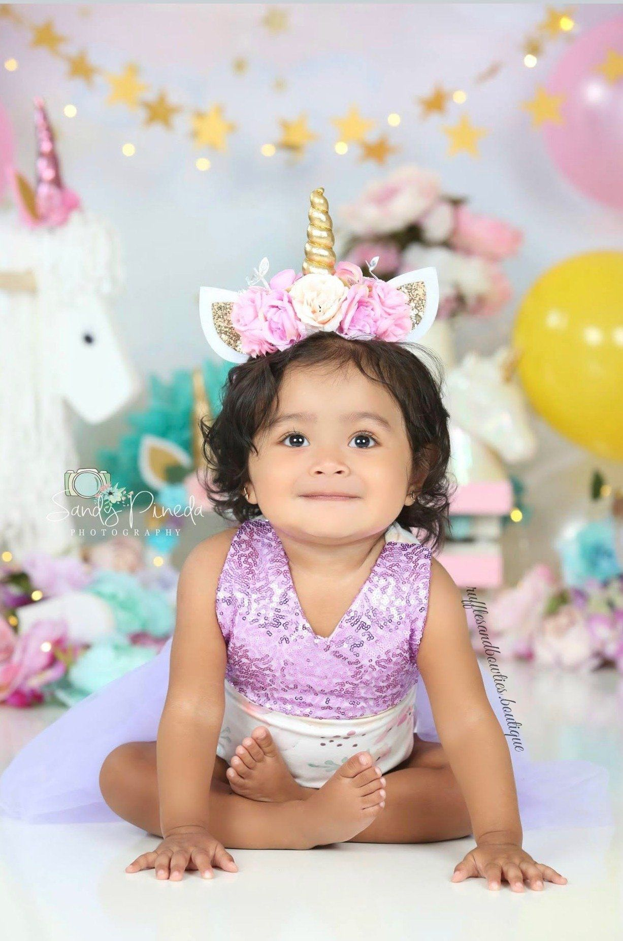 917bae1fe32 Kryssi Kouture Original - Lilac English Rose Mauve Baby First Birthday Tutu  Romper