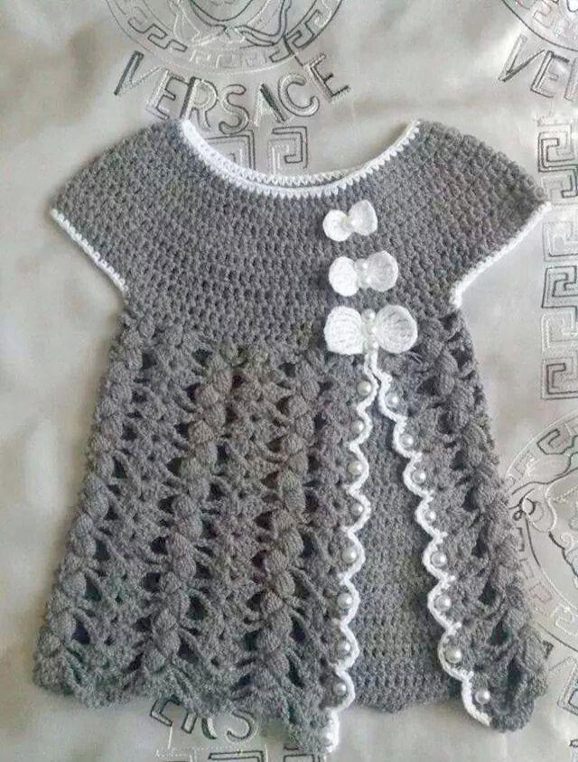 Cool... Crochet Summer Dress For Baby ;)   Crochet   Pinterest