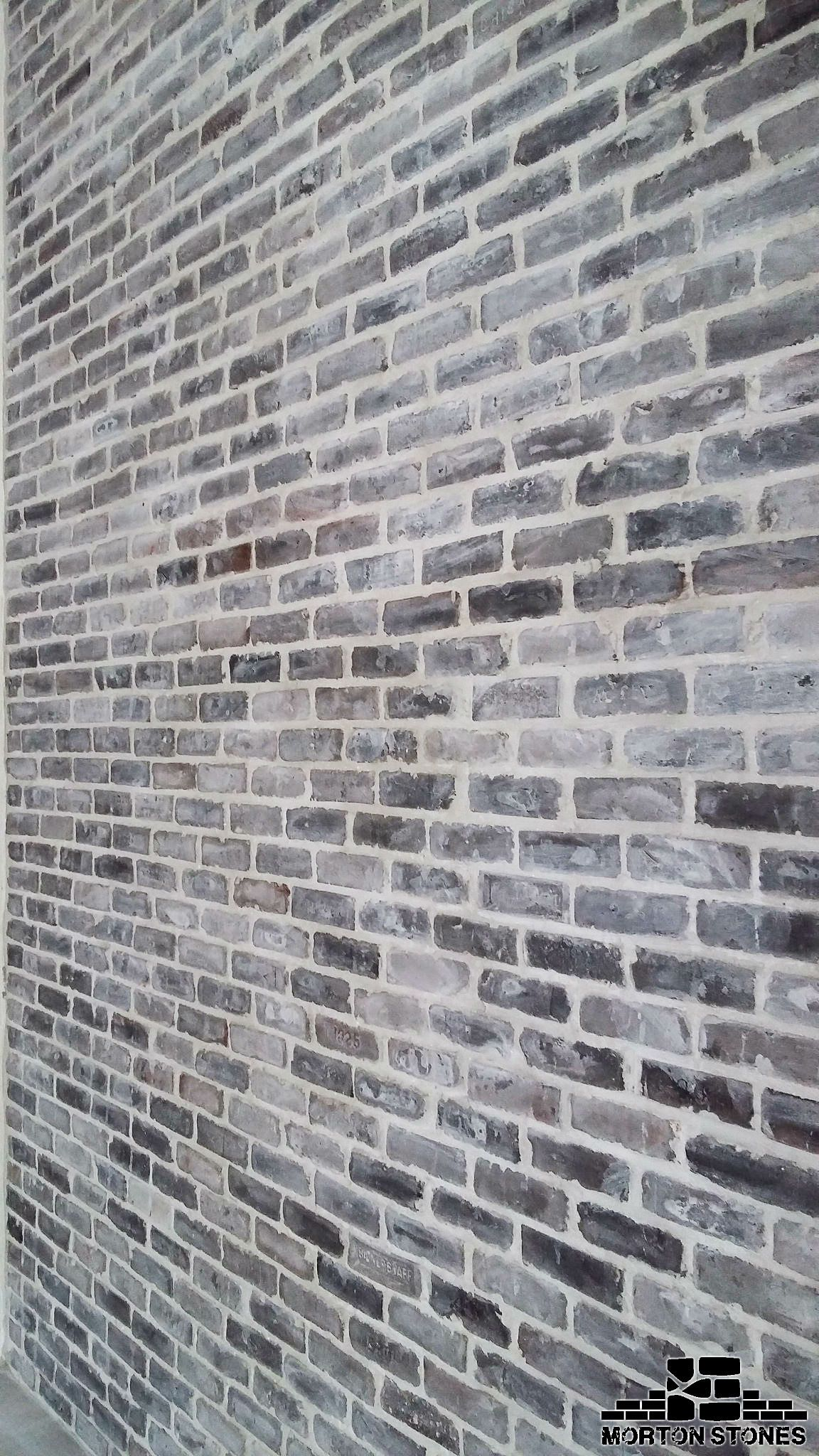 Chicago Style Brick Veneers Grey Mixed Color Affordable Thin Bricks Grey Brick Houses Brick Exterior House Brick Decor