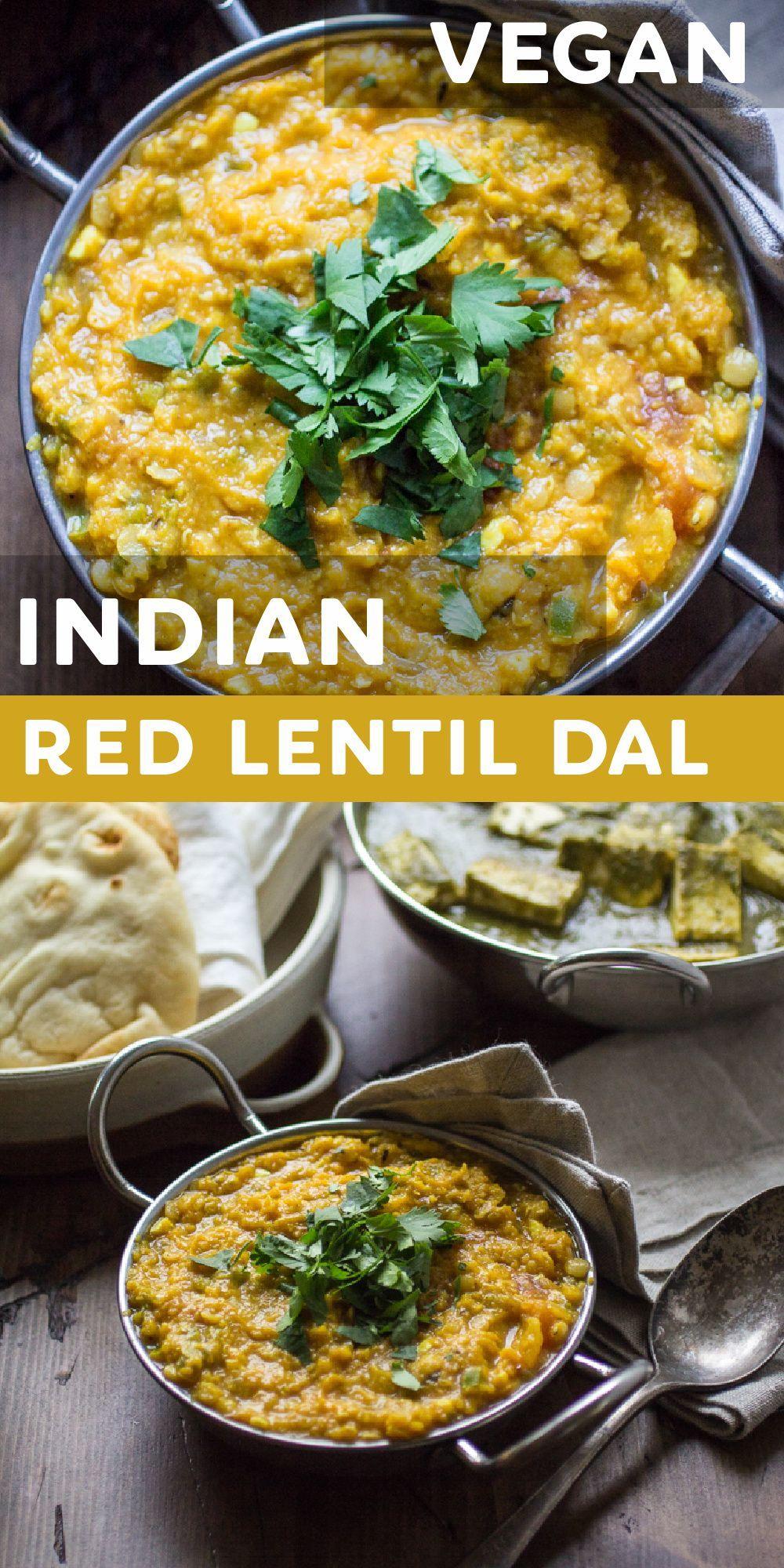 Indian Red Lentil Dal Authentic Vegan Quick Easy Recipe Indian Recipes Authentic Indian Food Recipes Indian Food Recipes Vegetarian