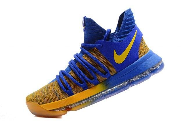 11c5bd16c87f Diversified Designs Nike KD 10 X Kevin Durant Royal Blue Yellow Men s  Basketball Shoes