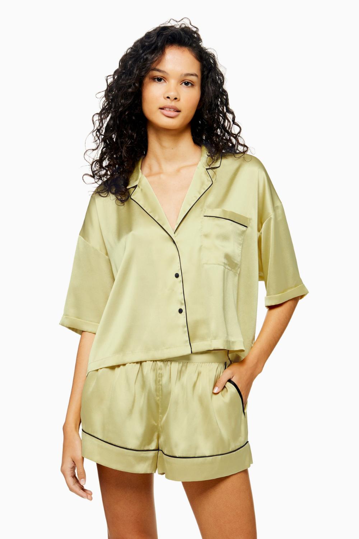 Sage Satin Pyjama Set