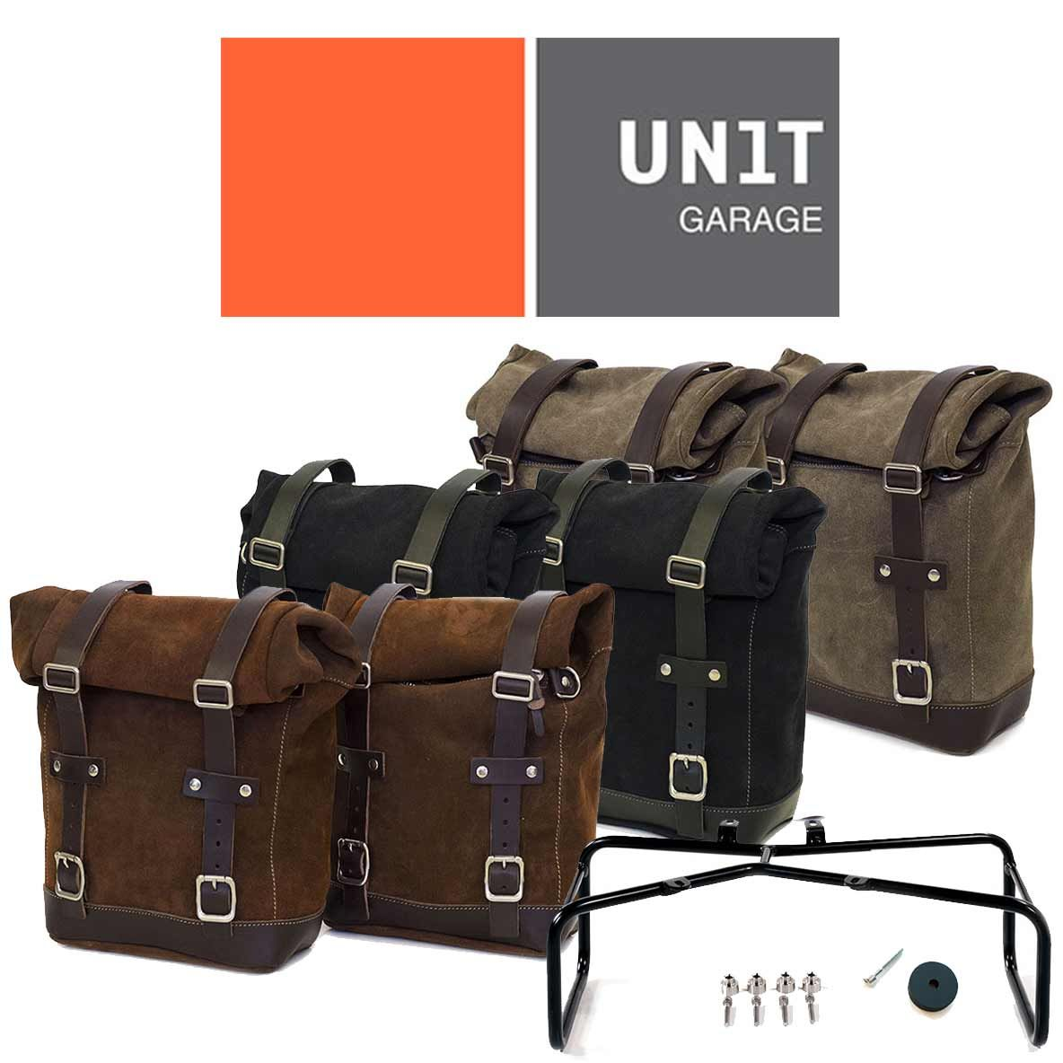 Unit Garage Pair of Leather Straps for Luggage Rack