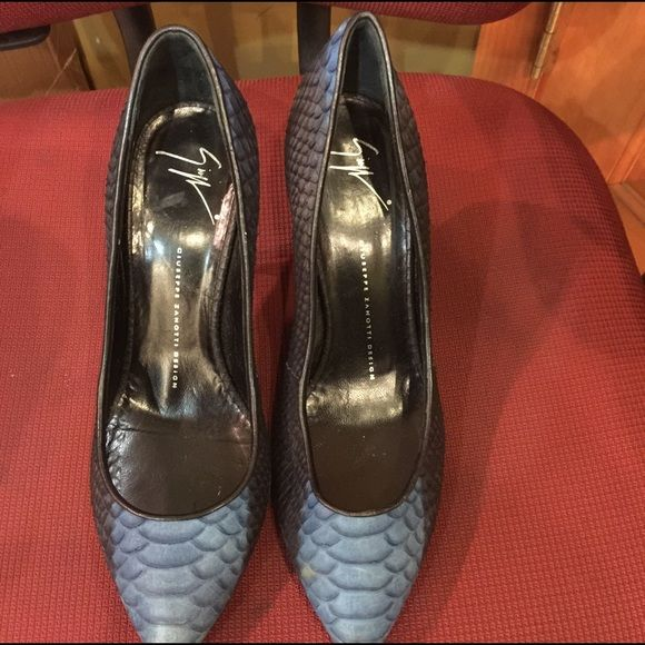 Giuseppe Zanotti used but looks new Blue and Black size 40 very nice only worn a couple times Giuseppe Zanotti Shoes Heels