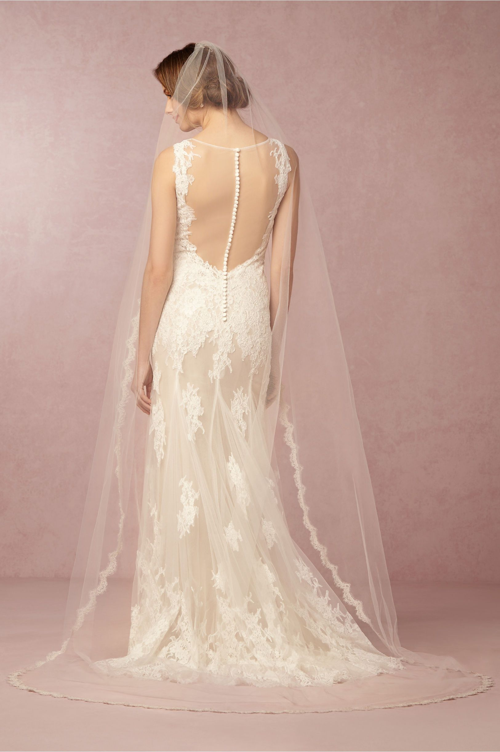 watterswtoo Francine gown + Curving Periphery Veil from @BHLDN ...
