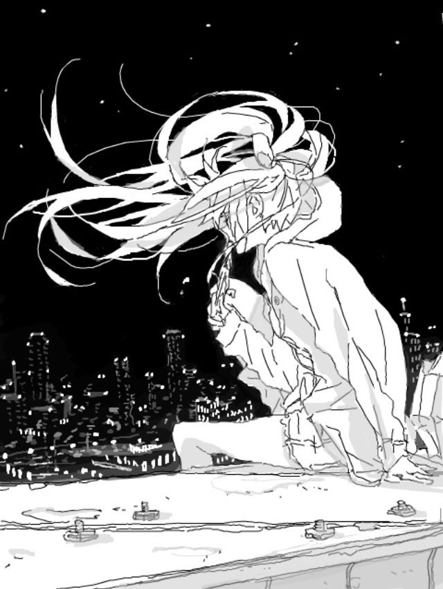 The wind through her hair