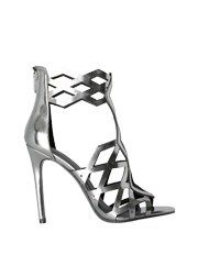 Metallic Cut Out Strap High Heel Sandals from Kendall + Kylie $219,00