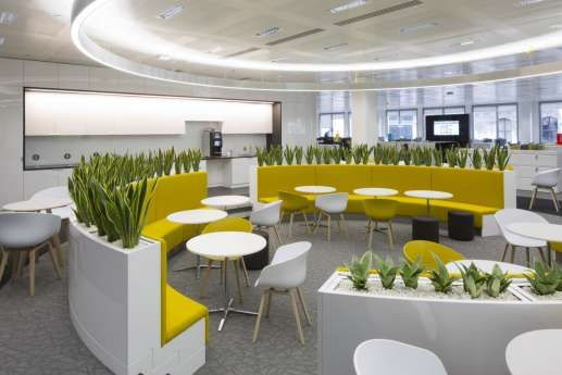 Image Result For Circular Seating Interior Office Decor
