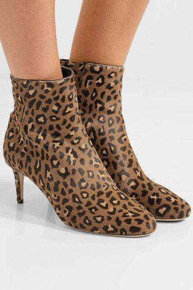 3a42f5b4348 JIMMY CHOO Fabulous Duke 65 leopard-print calf hair ankle boots ...