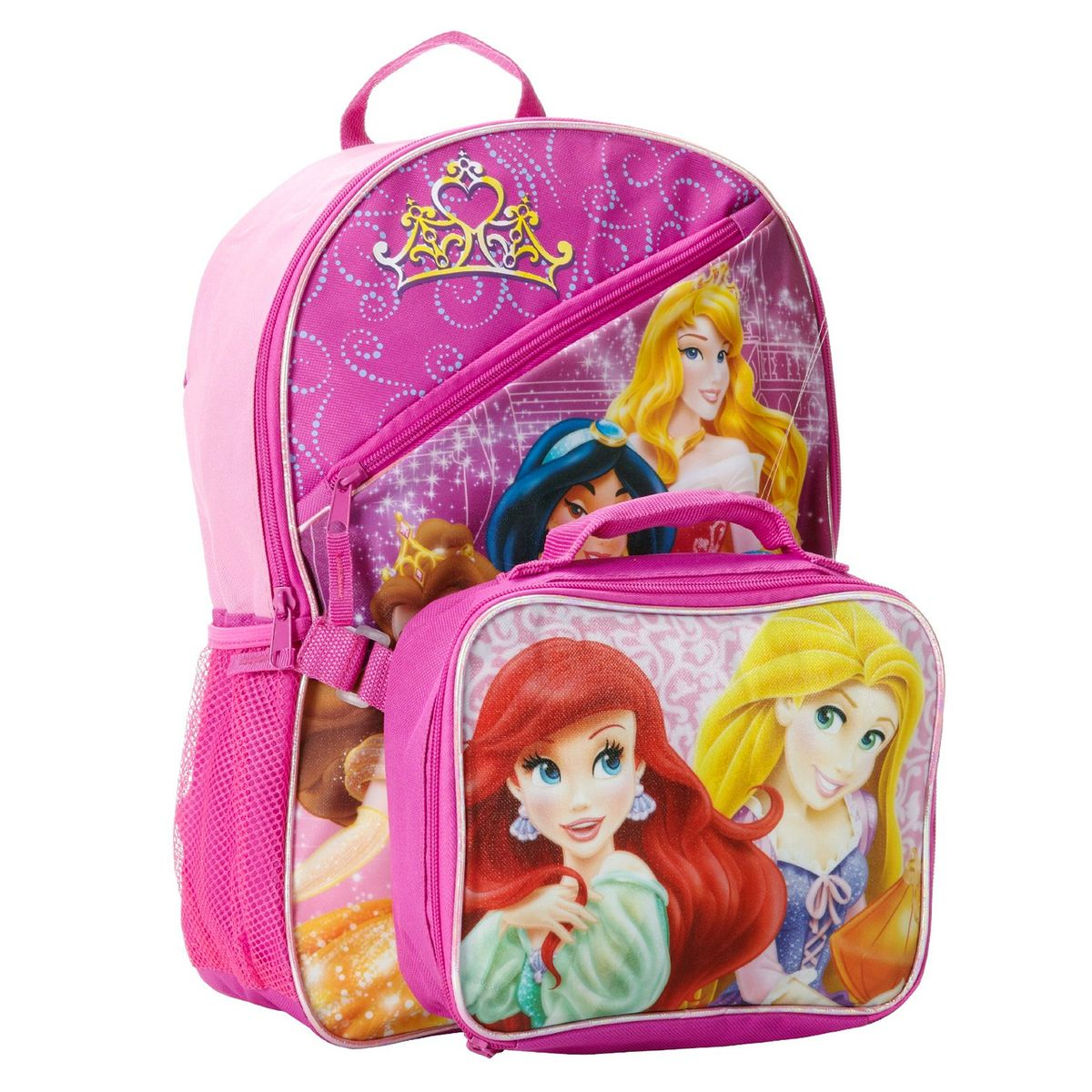 Princess 16 Quot Large Backpack W Lunch Bag Disney Princess