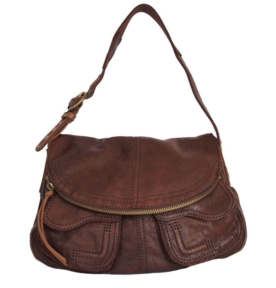 Lucky Brand Stash Handbag Leather Brown