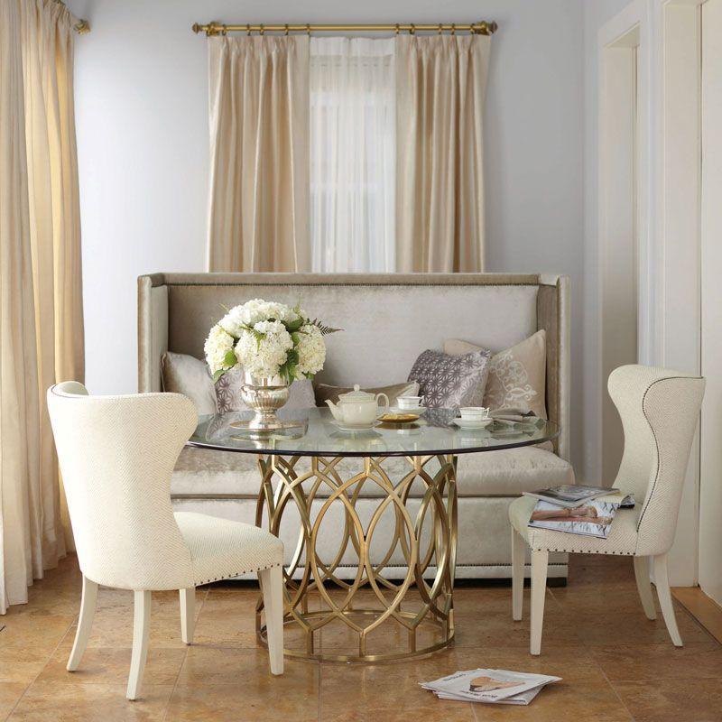 Bernhardt Salon Dining Table With Gl Top