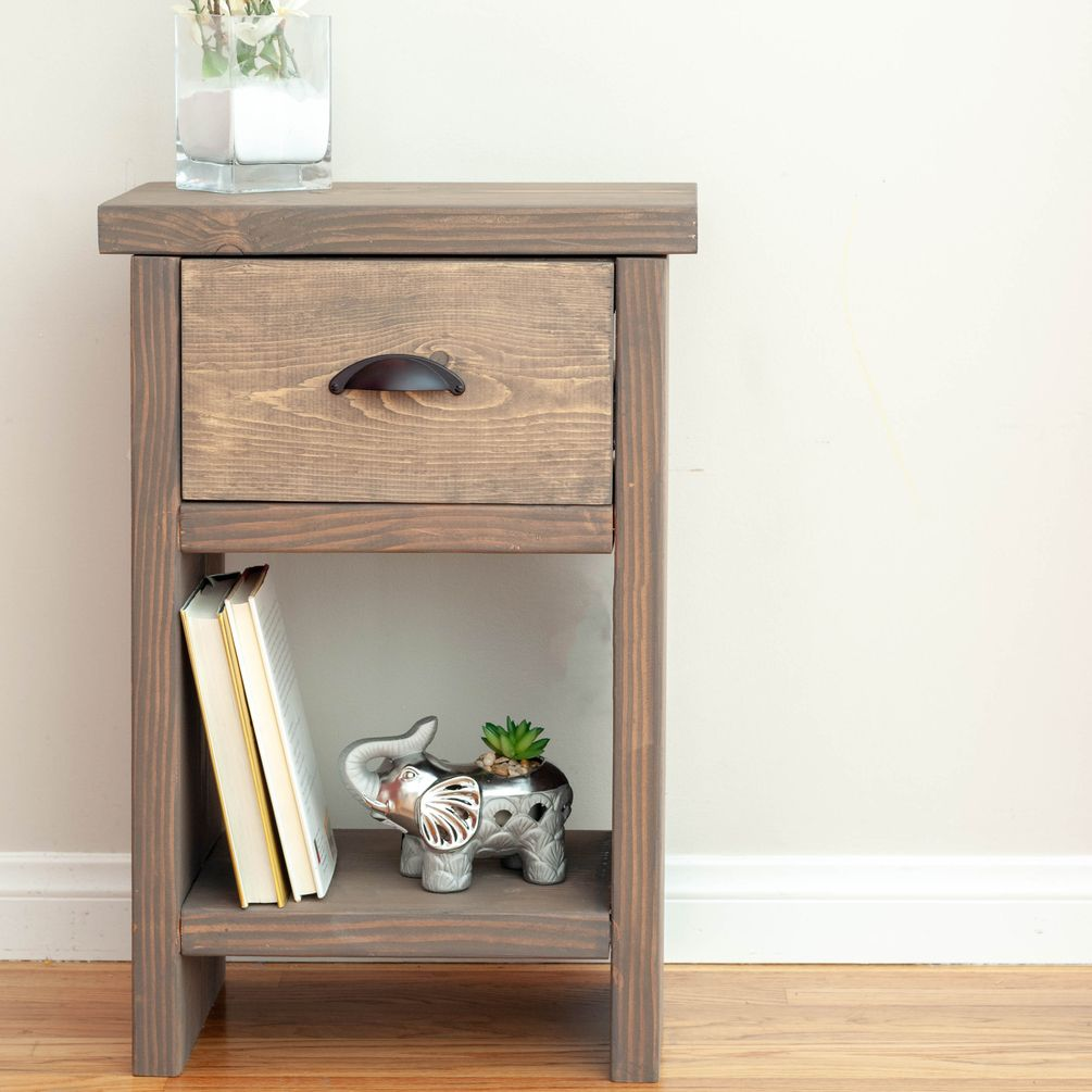 Nightstand with hidden compartment plans in 2020 (With