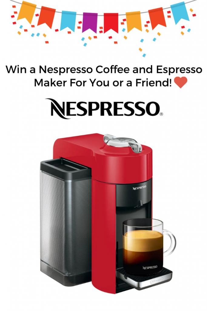 Win a Nespresso Vertuo Coffee and Espresso Maker! #espressomaker