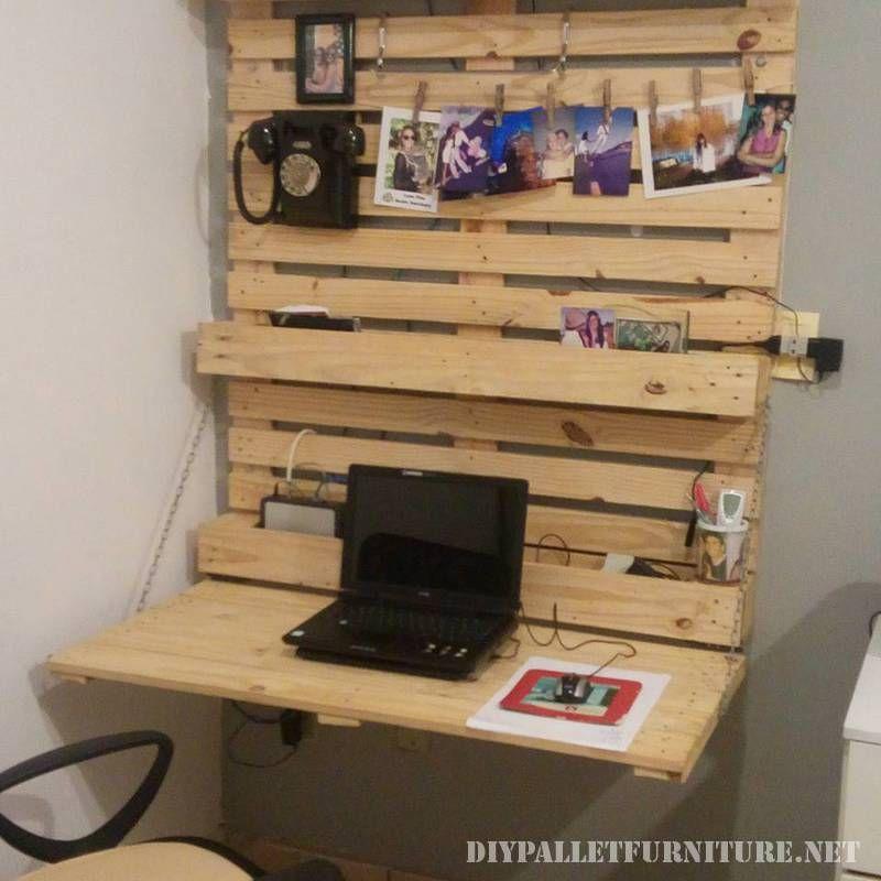 Faltwand Schreibtisch Mit Paletten Faltbare Wande Diy Paletten