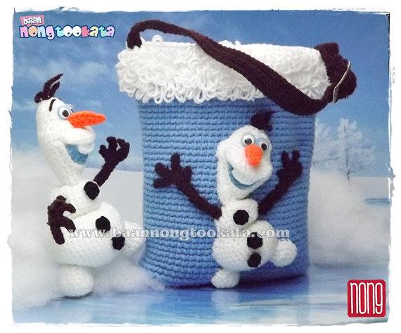 Amigurumi Patterns Olaf : Olaf s from frozen crochet doll pattern design by nong crochet