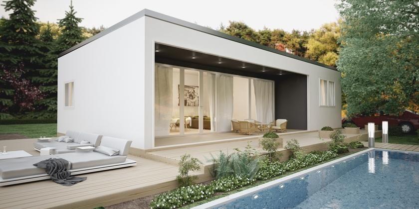 Donacasa escorpio d 90 m2 ytong casas pinterest - Casas cubo prefabricadas ...