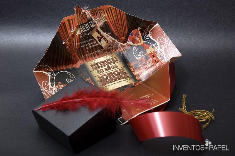Tarjeta De Invitación Para Temática Moulin Rouge