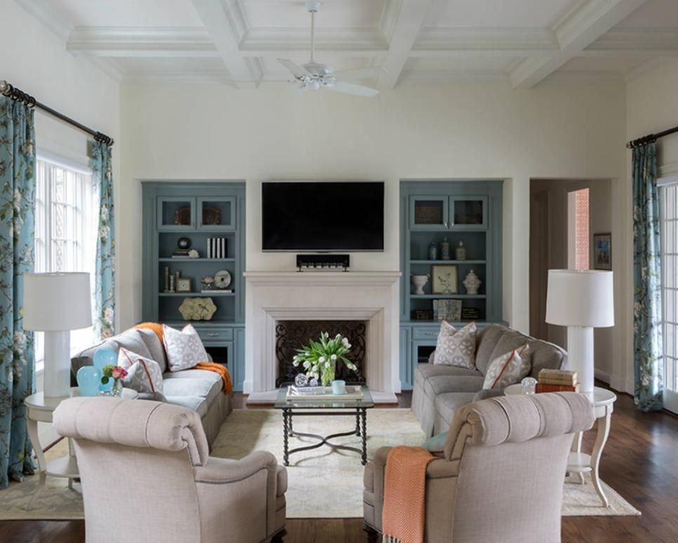 The Elegant Family Room Is Highlighted By Stunning Architectural
