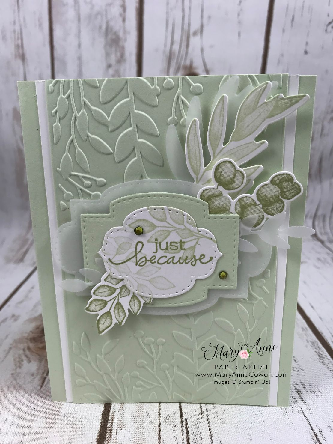 Soft Sea Foam meets the Forever Greenery Suite of products- details on my blog