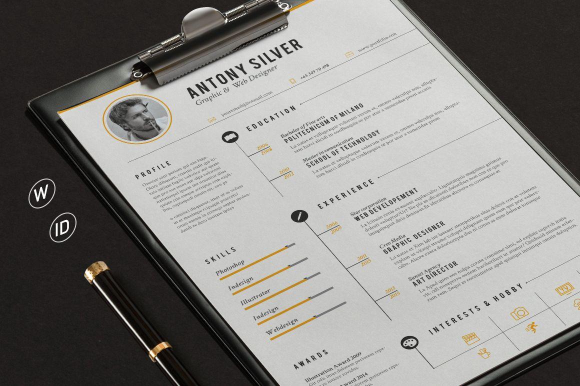 The Resume on Behance Modèle lettre de motivation, Cv