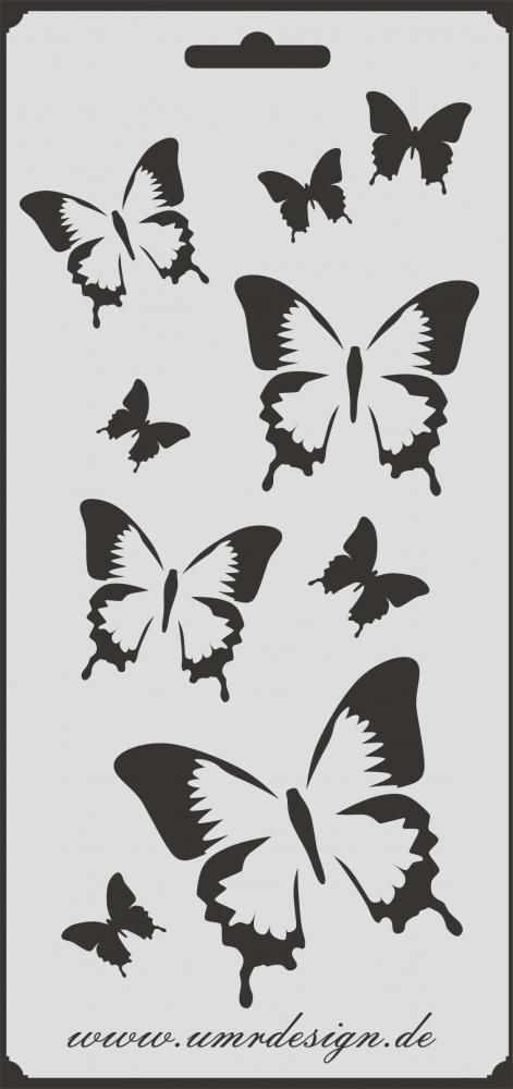 """Schablone /"""" Pusteblumen Schmetterlinge /"""" auf A4"""