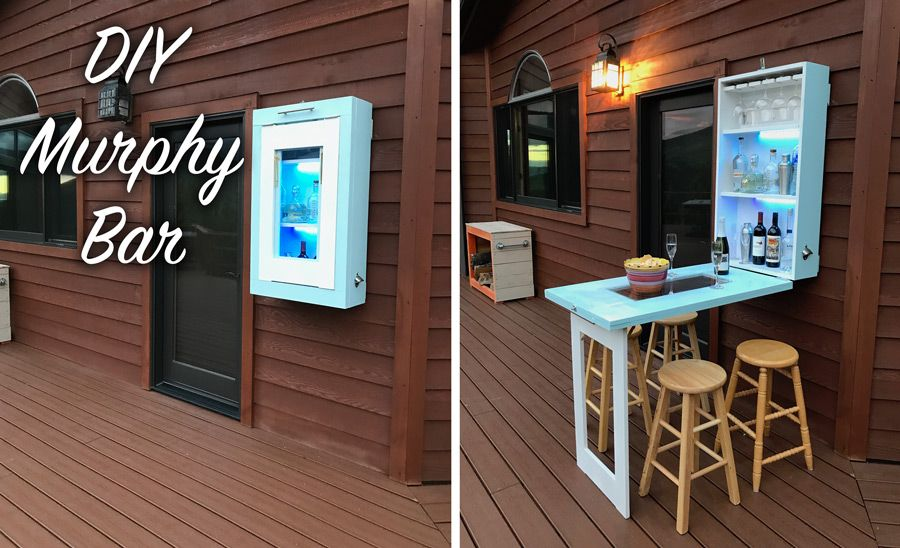 DIY Murphy Bar with Plans | Patios, Bar and Spaces