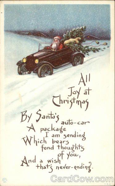 All Joy at Christmas with Santa in Car Santa Claus