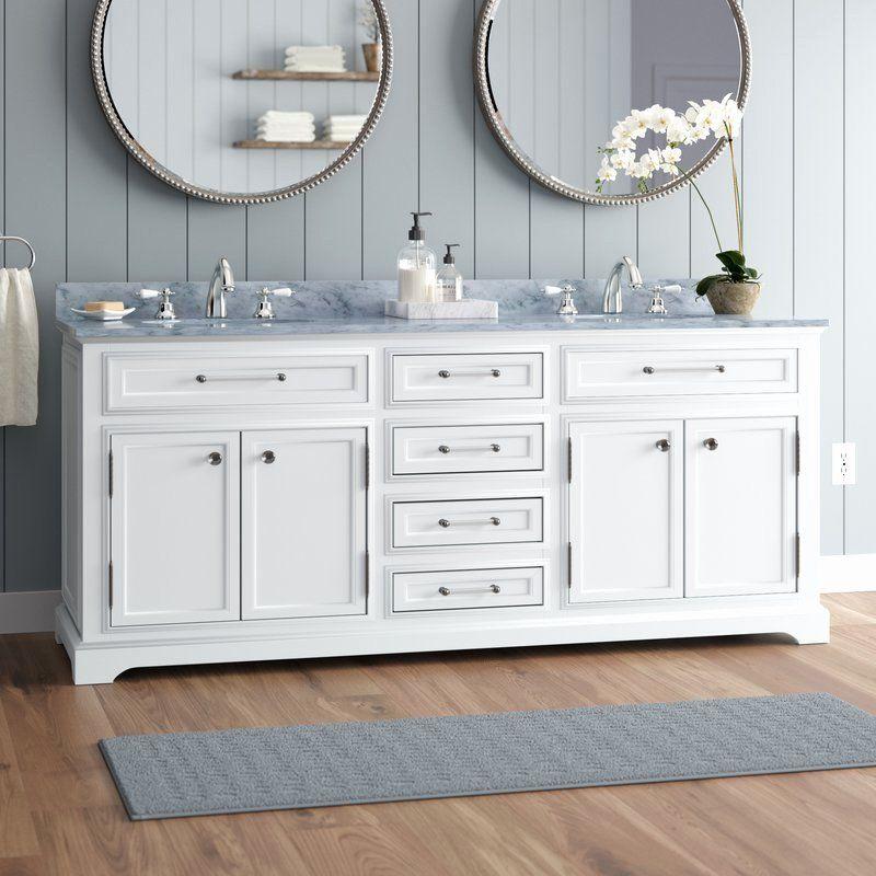 Bathroom Vanity Lighting Ideas And Pictures Unique Three Posts Bergin 72 Double Bathroom Vanity Set Reviews