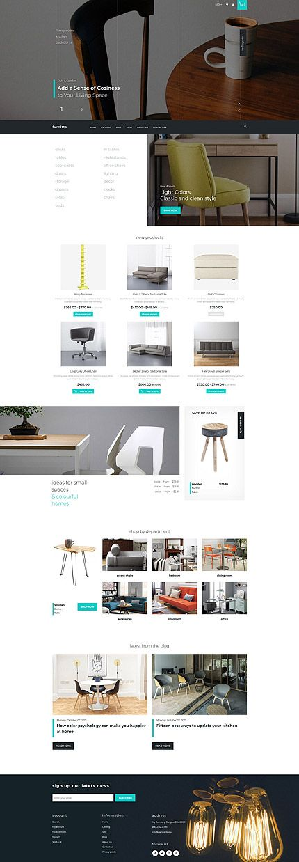 Contemporary U0026 Modern Furniture Online Store #Shopify #template. #themes  #business #responsive #webshop #Shopifythemes