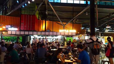 Timbre Food Court One North Singapore Singapore Pizza Fries Eat Pizza