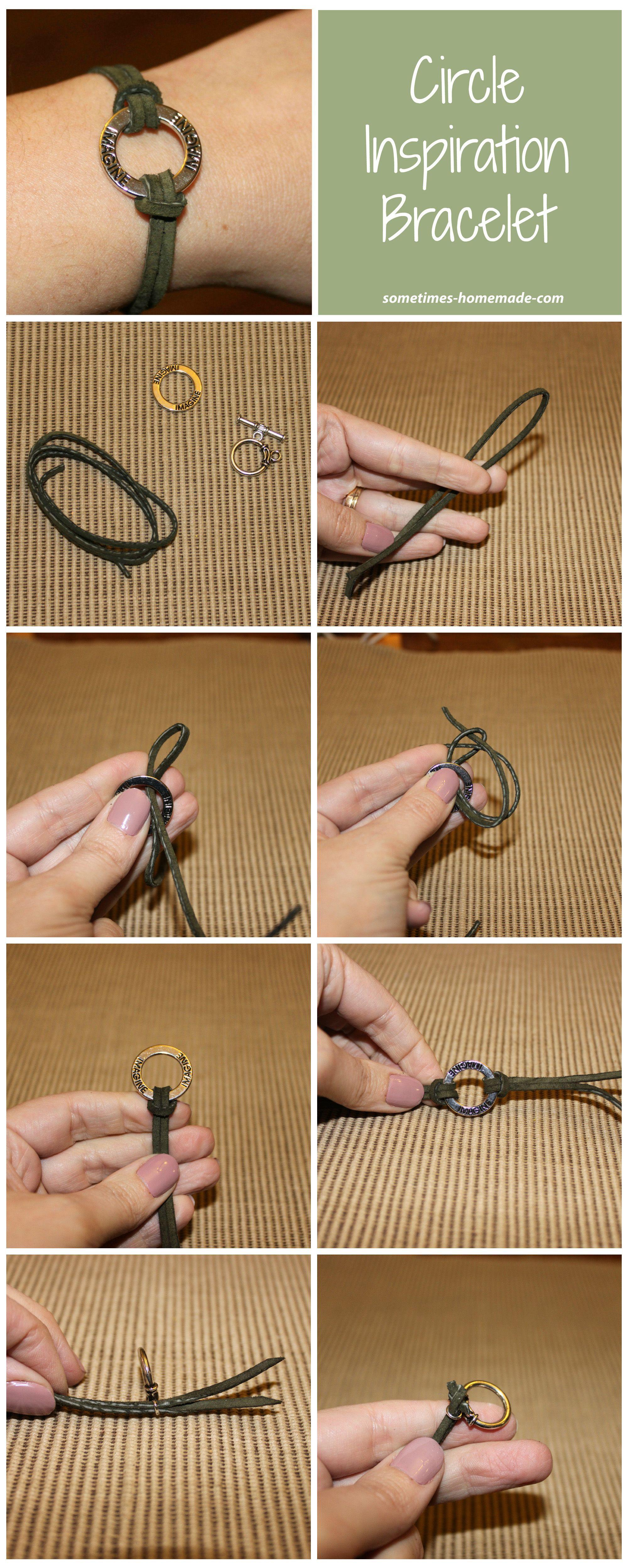 Circle inspiration bracelet leather bracelet tutorial