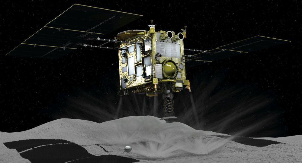 المسبار الياباني يكتشف مكونات مائية محتملة على كويكب ريوغو Space